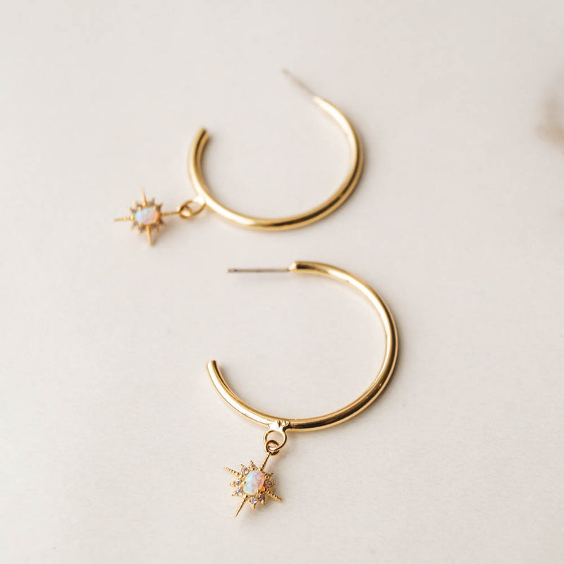 Keira Star Hoops, Earrings, - Wander + Lust Jewelry