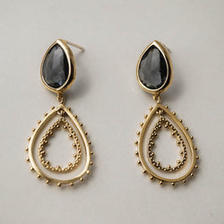Venetian Gray Drop Earrings, Earrings, - Wander + Lust Jewelry
