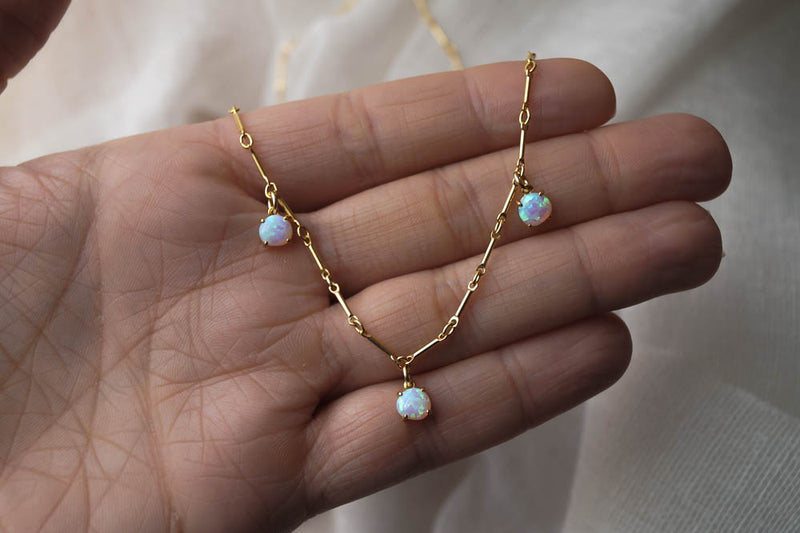 Serafina Opal Necklace, Necklace, - Wander + Lust Jewelry