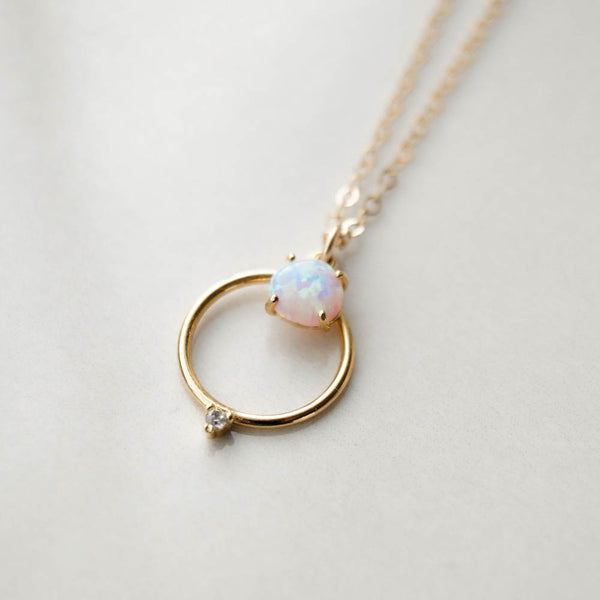 Ophelia Opal Necklace, Necklace, - Wander + Lust Jewelry