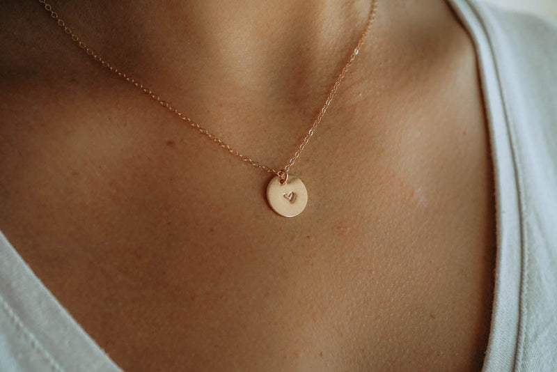 Self Love Heart Necklace, Necklace, - Wander + Lust Jewelry