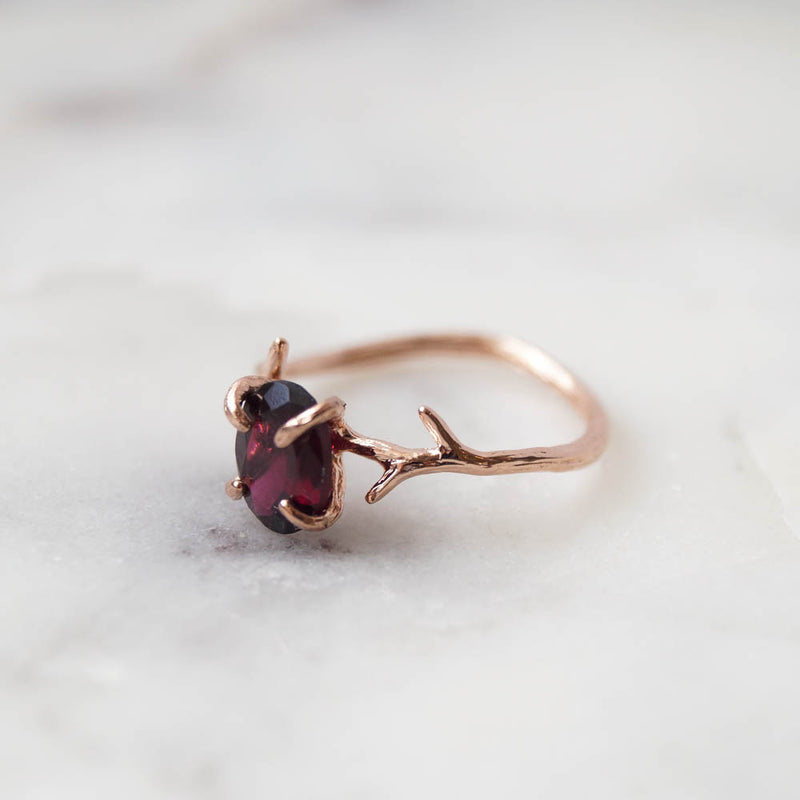 Garnet Ring, Ring, - Wander + Lust Jewelry