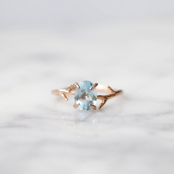 Blue Topaz Ring, Ring, - Wander + Lust Jewelry