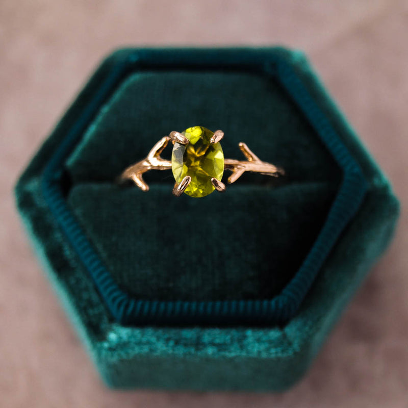 Peridot Ring, Ring, - Wander + Lust Jewelry