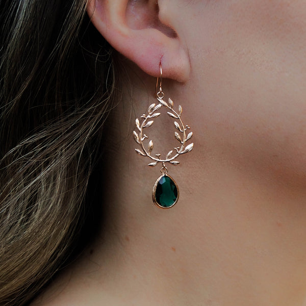 The Juliet Wreath Drops, Earrings, - Wander + Lust Jewelry