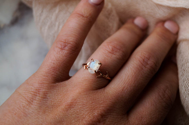 Moonstone Ring, Ring, - Wander + Lust Jewelry