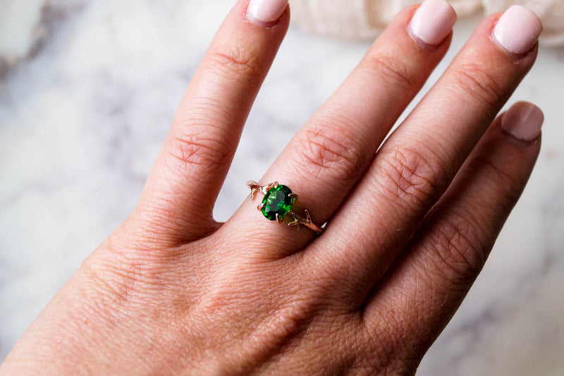 Emerald Green Ring, Ring, - Wander + Lust Jewelry