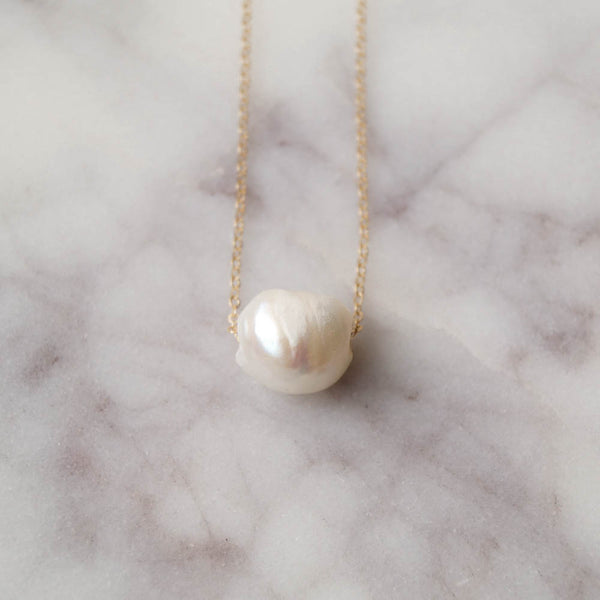 Kauai Ivory Pearl Necklace, Necklace, - Wander + Lust Jewelry