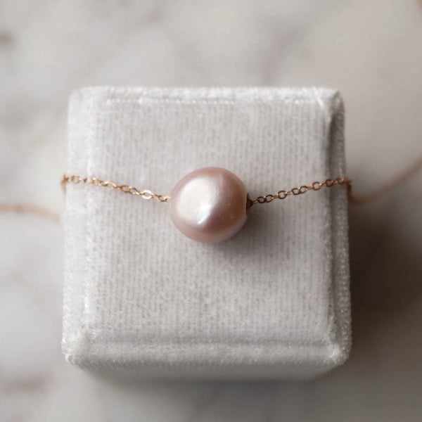 Kauai Pink Pearl Necklace, Necklace, - Wander + Lust Jewelry