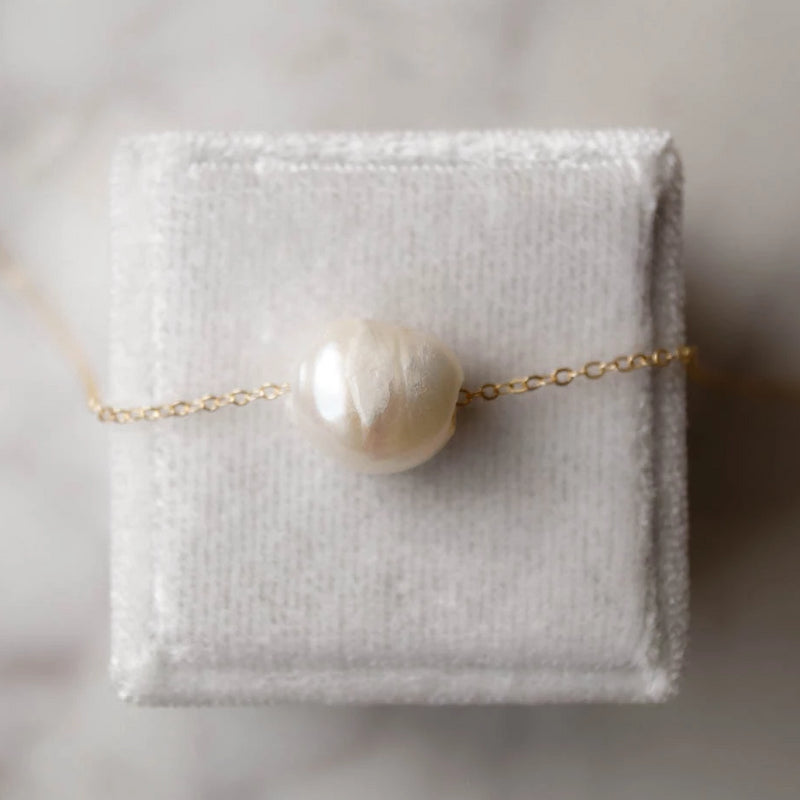 Kuaui Ivory Pearl Necklace, Necklace, - Wander + Lust Jewelry