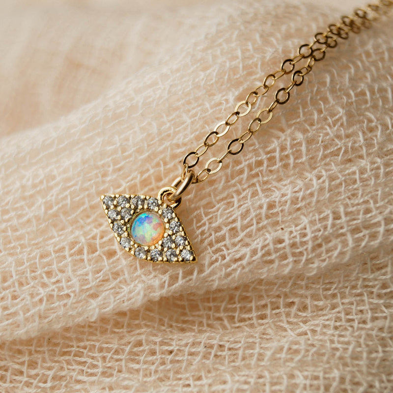 Bright Eyes Necklace, Necklace, - Wander + Lust Jewelry