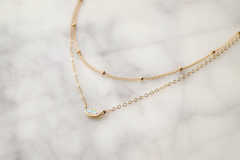 Tessa Layered Necklace, Layered Necklace, - Wander + Lust Jewelry