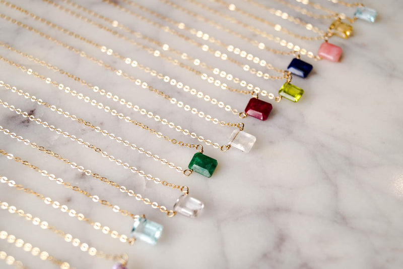April Birthstone Necklace, Necklace, - Wander + Lust Jewelry