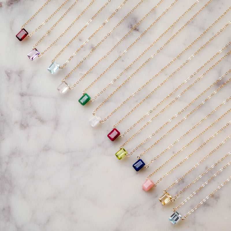 January Birthstone Necklace, Necklace, - Wander + Lust Jewelry
