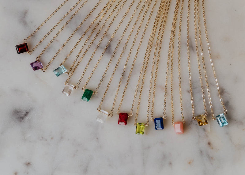 May Birthstone Necklace, Necklace, - Wander + Lust Jewelry