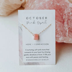 October Birthstone Necklace, Necklace, - Wander + Lust Jewelry