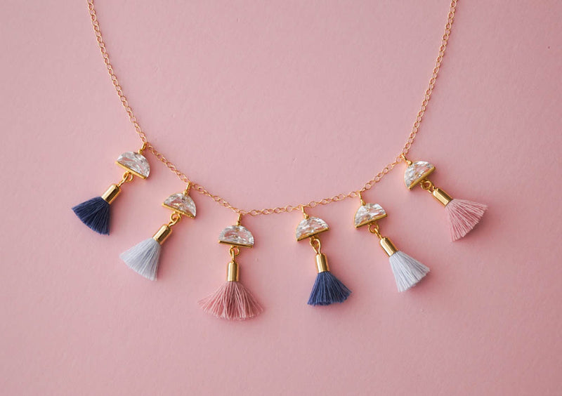 Summer Nights Tassel Necklace, Necklace, - Wander + Lust Jewelry
