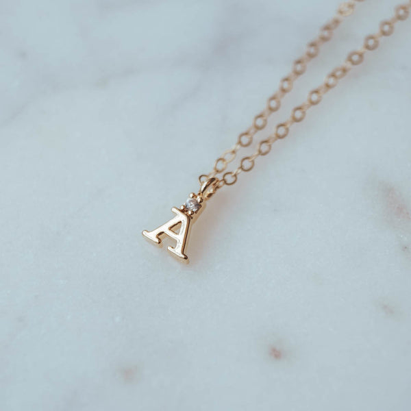 Initial Necklace, Necklace, - Wander + Lust Jewelry