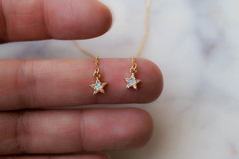 Cece Star Threaders, Earrings, - Wander + Lust Jewelry