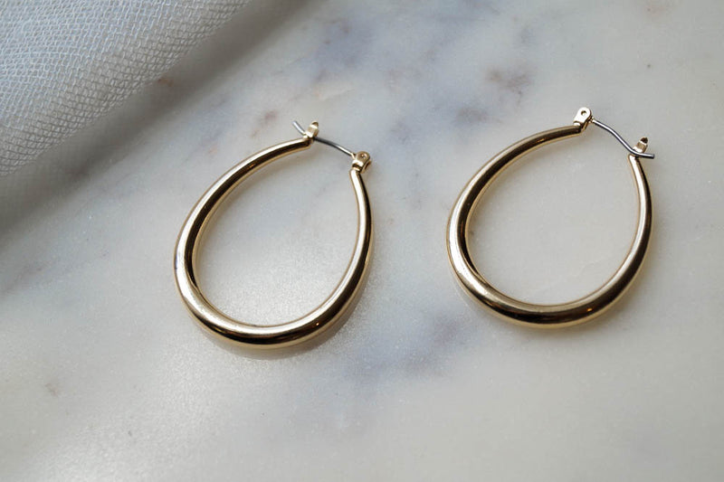 Arie Hoops, Earrings, - Wander + Lust Jewelry