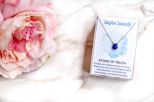 Lapis Lazuli Healing Jewel Necklace, Necklace, - Wander + Lust Jewelry