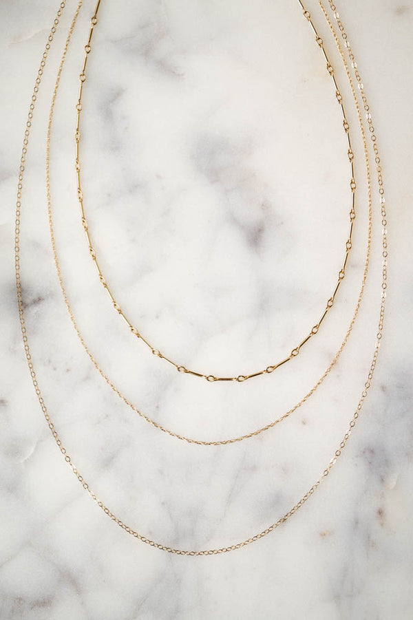Delaney Layered Necklace, Layered Necklace, - Wander + Lust Jewelry