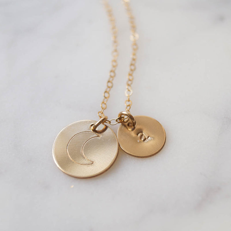 You're My Moon Necklace, Necklace, - Wander + Lust Jewelry