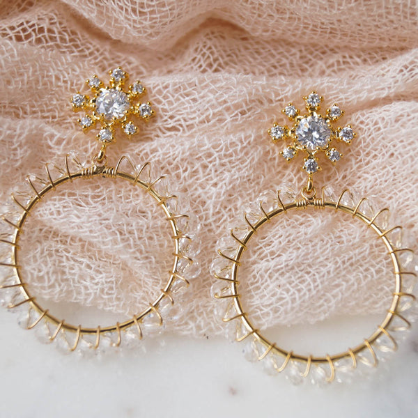 HARPER Beaded Hoops, Earrings, - Wander + Lust Jewelry