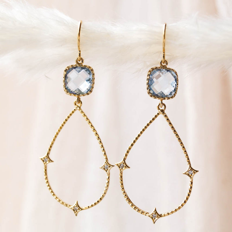 ISLA Blue Drop Earrings, Earrings, - Wander + Lust Jewelry