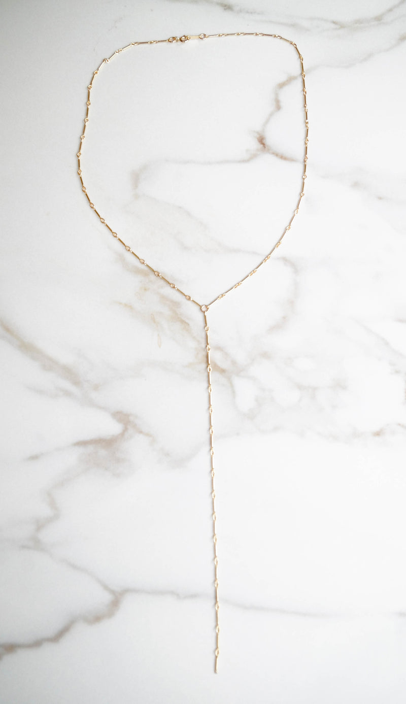 Delicate Y Necklace, Necklace, - Wander + Lust Jewelry