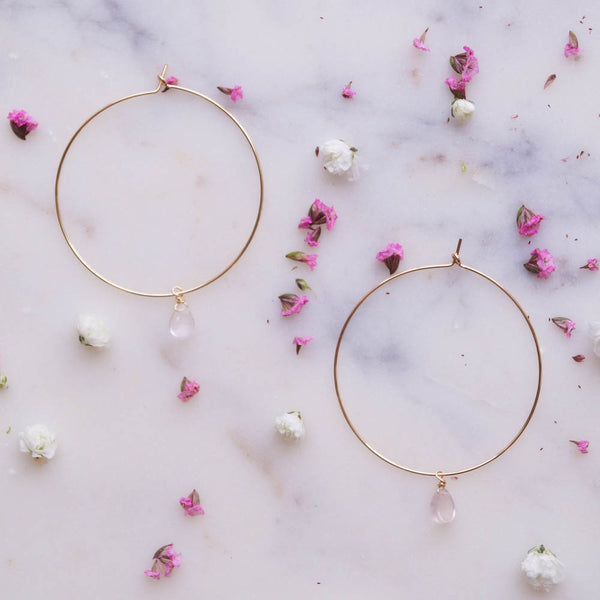 Love Thyself Hoops, Earrings, - Wander + Lust Jewelry