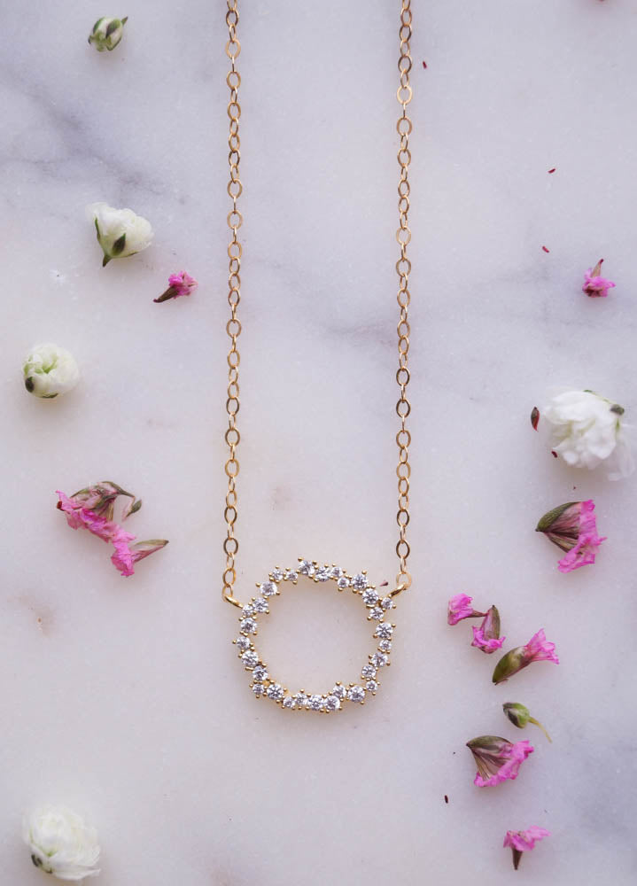 Eternity Wreath Necklace, Necklace, - Wander + Lust Jewelry