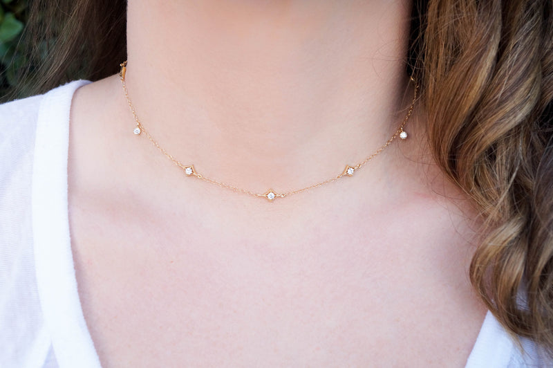 The Annabelle Dainty Gold Choker, Necklace, - Wander + Lust Jewelry
