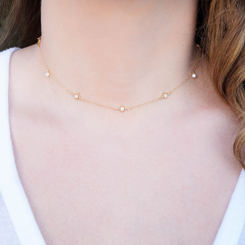 The Annabelle Dainty Gold Choker - Wander + Lust Jewelry  - 1