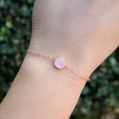 Dainty Rose Gold Bracelet - Wander + Lust Jewelry  - 1