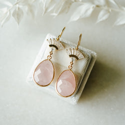 Rose Fan Earrings