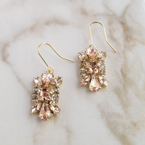Pink Champagne Earrings - Wander + Lust Jewelry  - 1