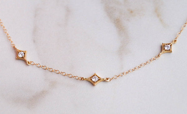 The Annabelle Dainty Gold Choker - Wander + Lust Jewelry  - 4