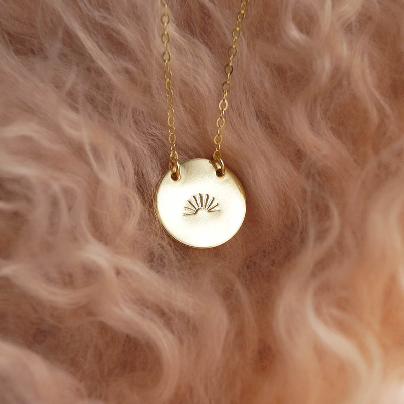 Rising Sun Necklace, Necklace, - Wander + Lust Jewelry