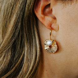 Fleur Hoop Earrings