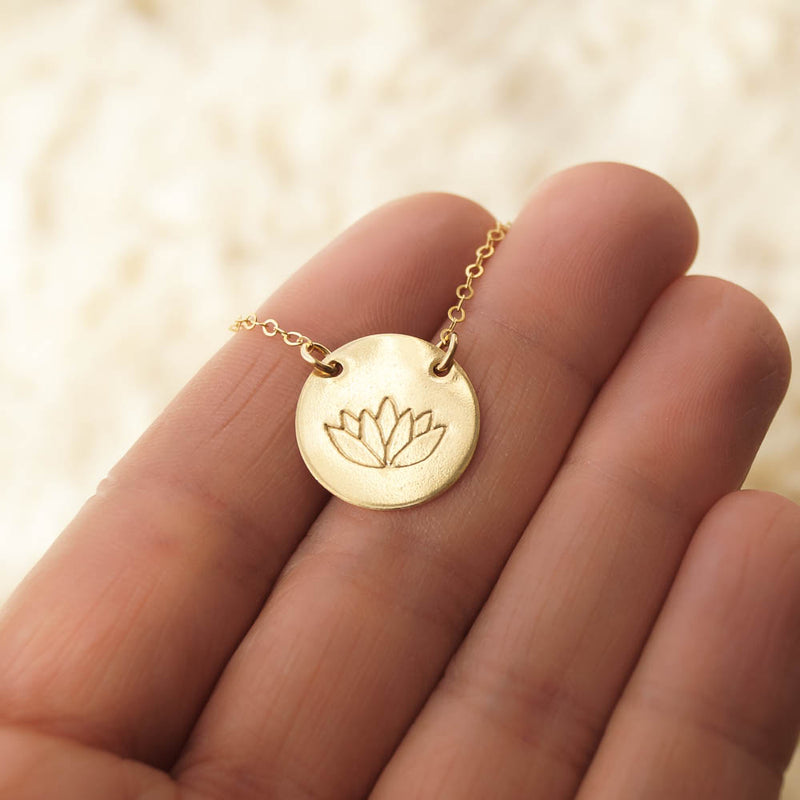 Lotus Flower Necklace, Necklace, - Wander + Lust Jewelry