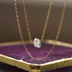 Herkimer Diamond Necklace, Necklace, - Wander + Lust Jewelry