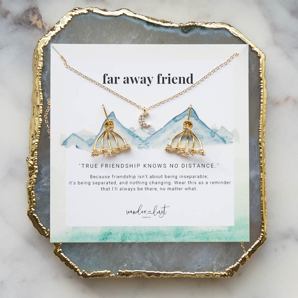 Deluxe Far Away Friend Gift Set, Necklace, - Wander + Lust Jewelry