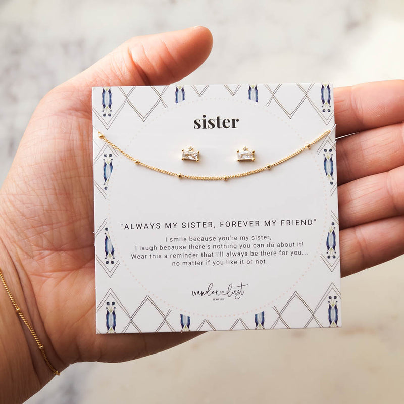 Deluxe Sister Gift Set, Necklace, - Wander + Lust Jewelry