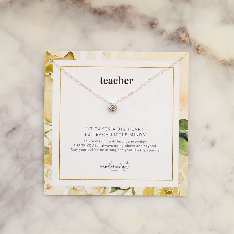 Teacher Gift Set, Necklace, - Wander + Lust Jewelry