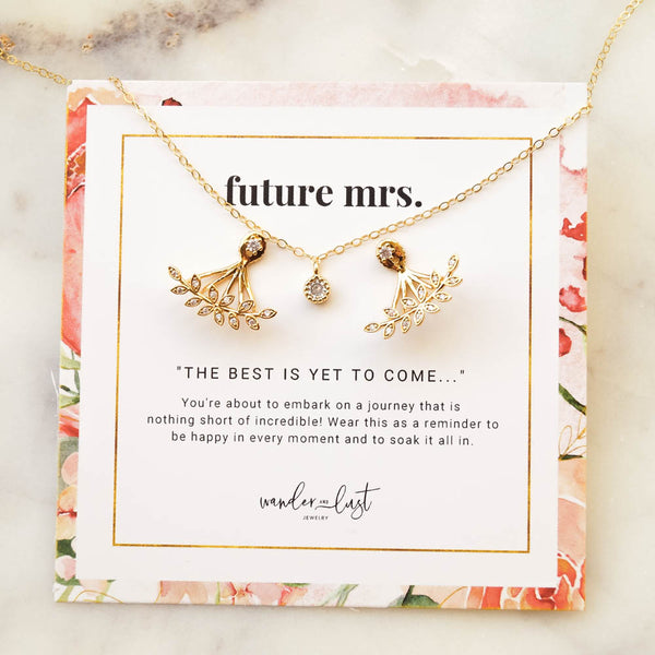 Deluxe Future Mrs Gift Set, Necklace, - Wander + Lust Jewelry