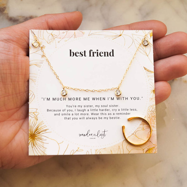 Deluxe Best Friend Gift Set, Necklace, - Wander + Lust Jewelry