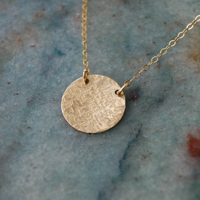 Stella Disc Necklace, Necklace, - Wander + Lust Jewelry