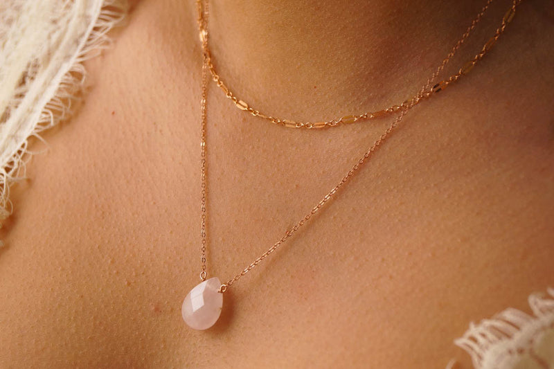 Rosé All Day Necklace Set, Layered Necklace, - Wander + Lust Jewelry