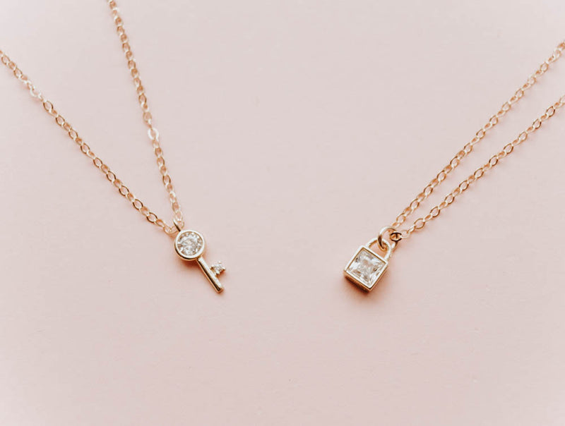 Lock and Key Necklace Set, Necklace, - Wander + Lust Jewelry